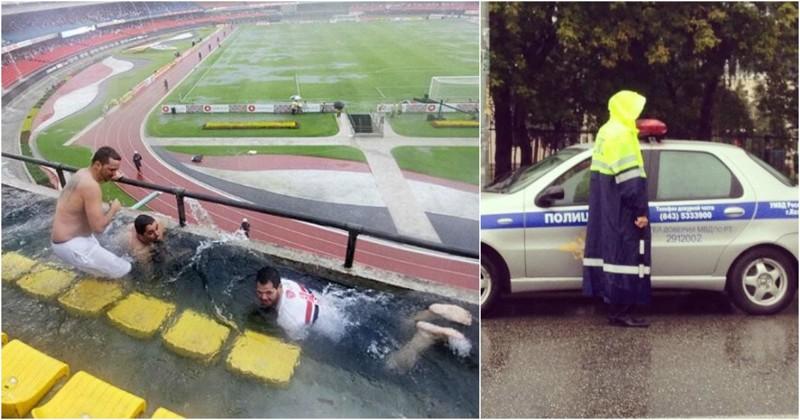 Дождь не помеха: этих людей не запугать капризами погоды! (22фото)