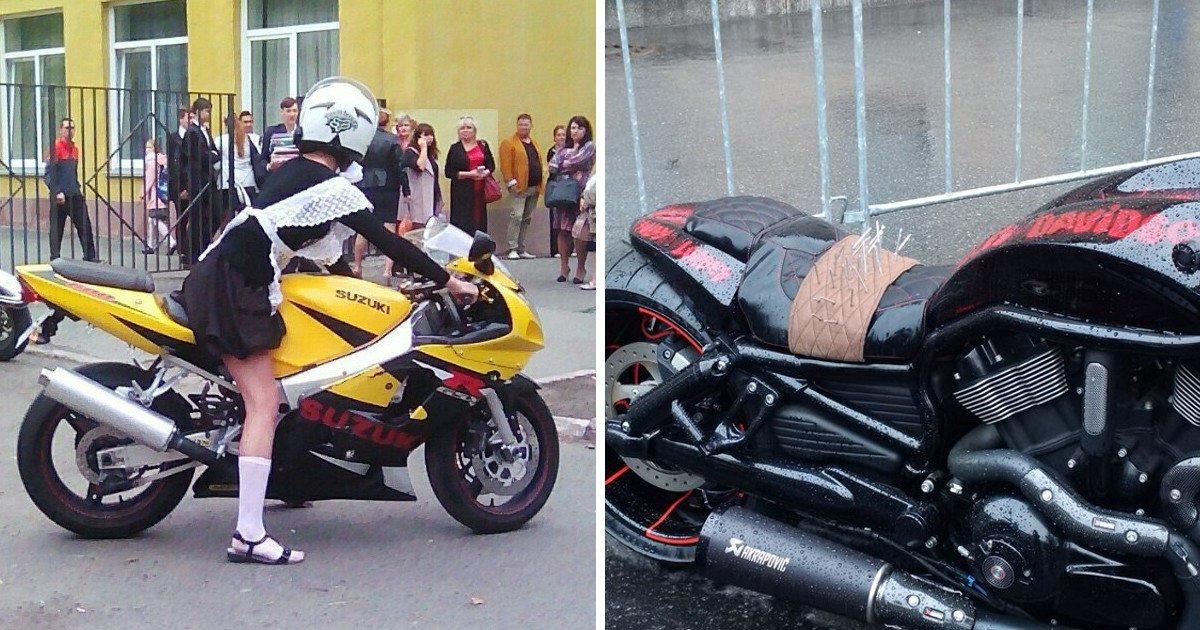 Нетипичные проблемы мотоциклистов, которыми не принято делиться (15фото+6гиф)