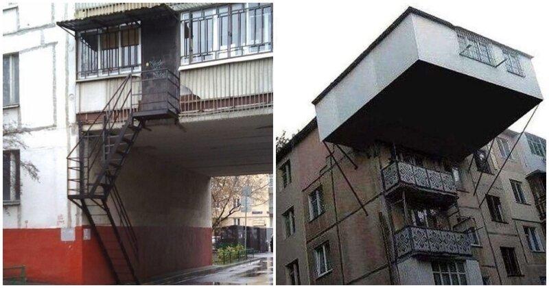 15 сумасшедших балконов, которых не должно было быть (16фото)