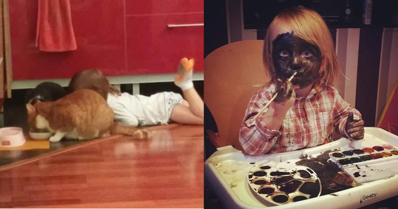 Ребёнок ест из миски кота? Это уже проблемы кота (22фото)