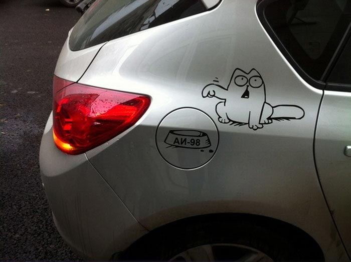 Самые творческие водители, дополнившие своё авто забавным креативом (29 фото)