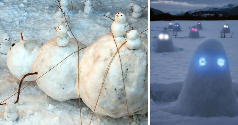 Таких снеговиков вы еще не видели! (49фото)