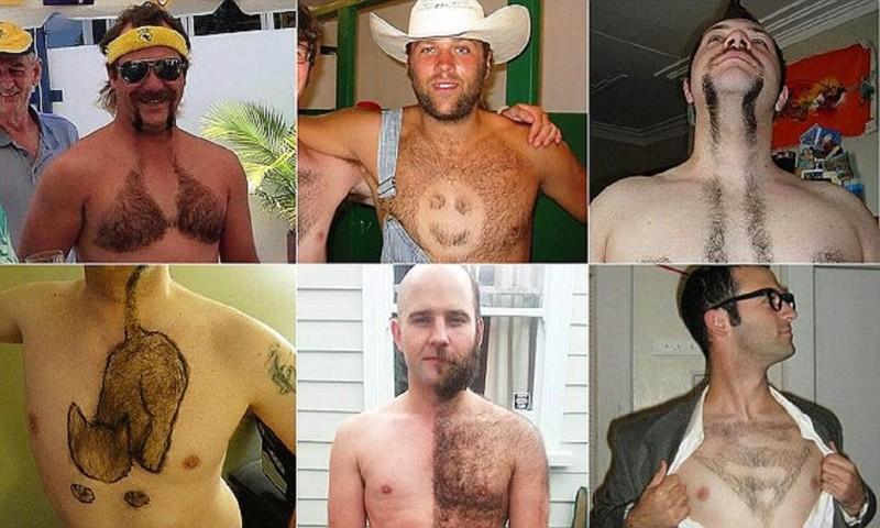 Волосатый лифчик и другие безумные стрижки для мужской груди (19фото)