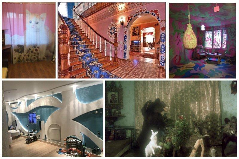 Сумасшедшие интерьеры квартир под сдачу и на продажу (30фото)