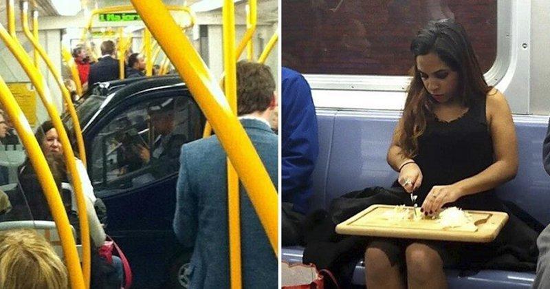 20 идеальных примеров использования общественного транспорта не по назначению (21фото)