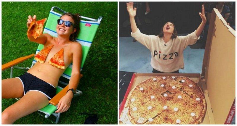 Девушки, которые без ума от пиццы (17фото)