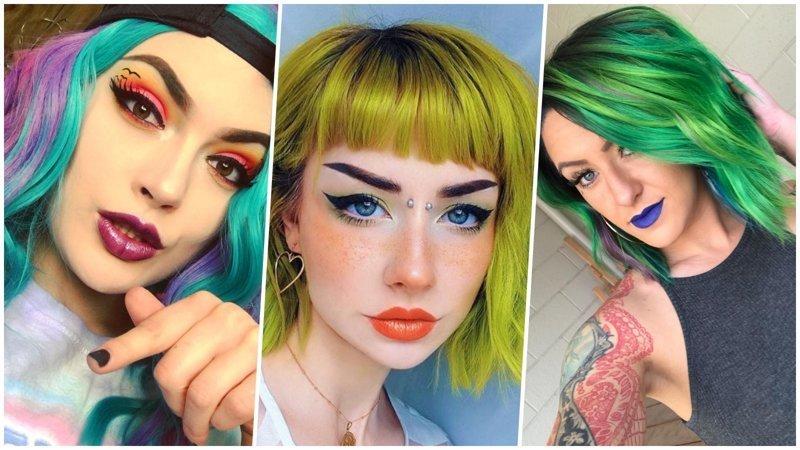 Давайте жить ярко: 25 прекрасных девушек с цветастыми волосами (26фото)