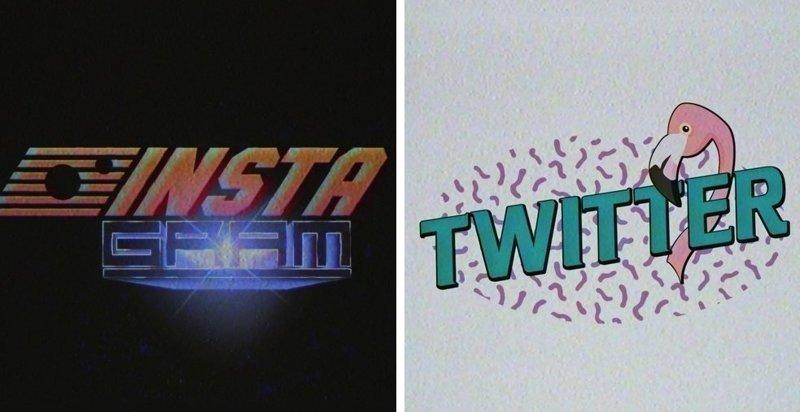 Дизайнер представил, как выглядели бы логотипы современных компаний в 70х - 90х годах (15фото)