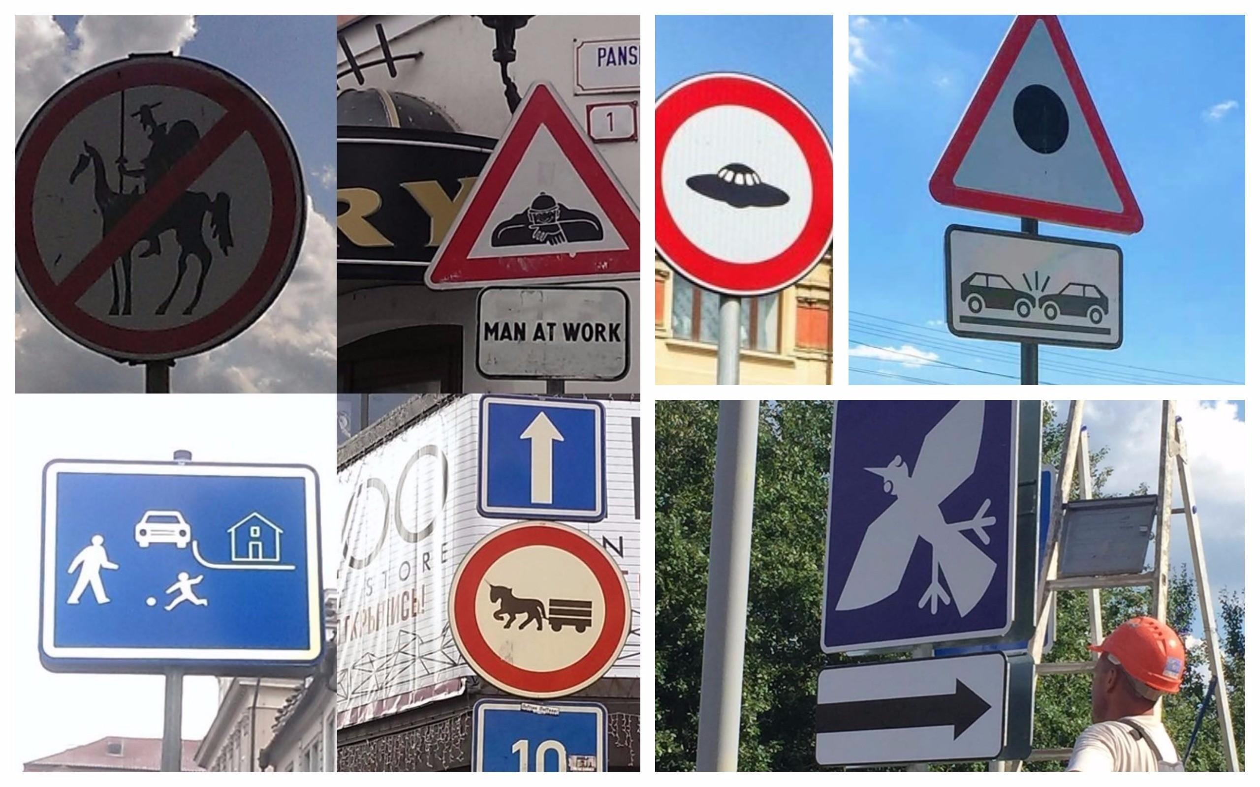Необычные дорожные знаки, которые призывают к действию, но непонятно к какому (24фото)
