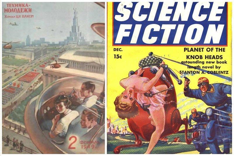 Как себе представляли будущее советские и американские граждане (37фото)