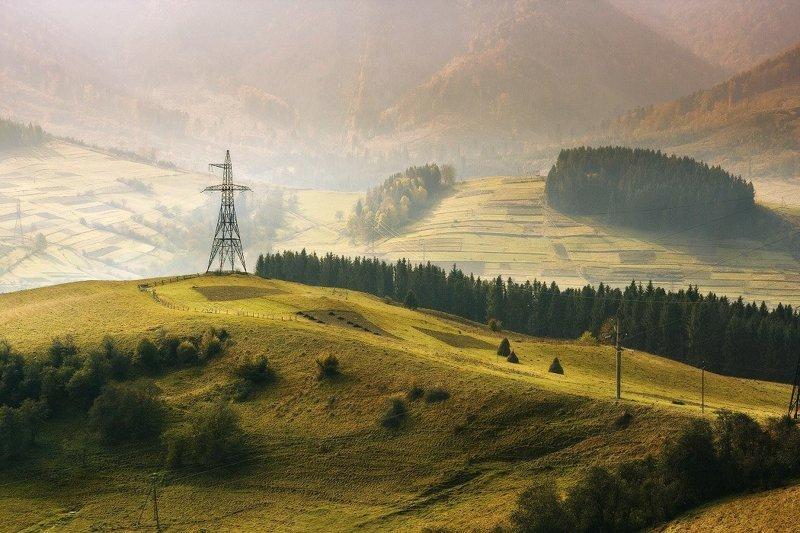 Эстетика воздушных высоковольтных ЛЭП (40фото)