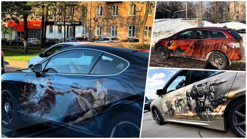 20 отличных рисунков на автомобилях (21фото)