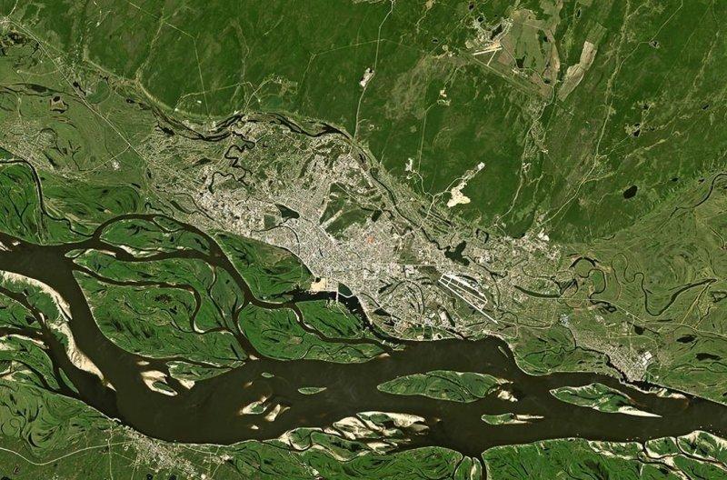 Как выглядит Россия из космоса? (20фото)