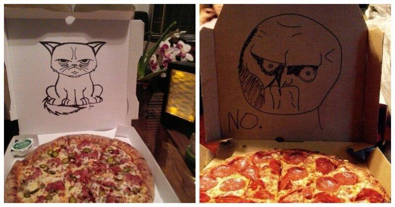 28 случаев, когда пиццерии удивили и рассмешили своих клиентов (29фото)