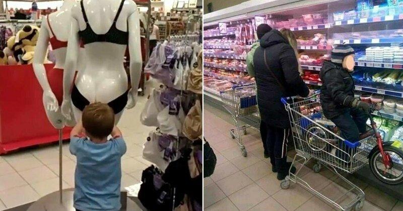Подсмотрено в магазине: детки и их родители (21фото)