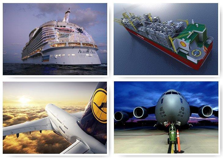 Самые большие корабли и самолеты (28фото)
