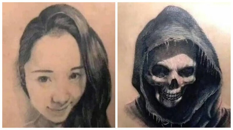 Любовь прошла: 25 остроумных перекрытий тату с изображением бывших (26фото)