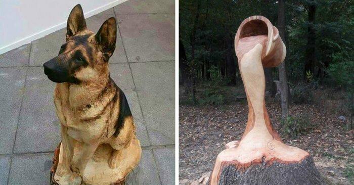 15 невероятных деревянных скульптур, которые поражают воображение (18фото+1гиф)