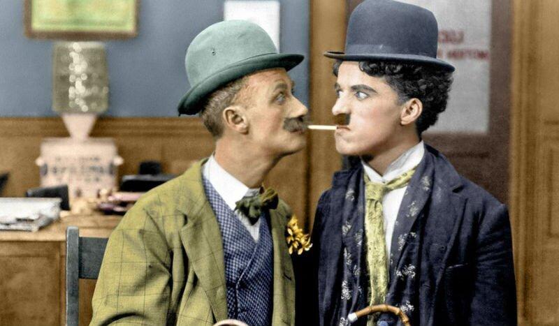 14 раскрашенных фотографий Чарли Чаплина, сделанных в 1910-1930-х годах (15фото)