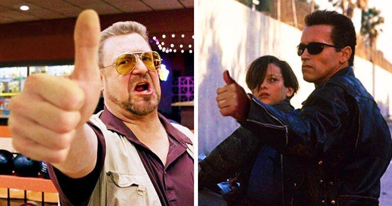 Фотошоперы заменили оружие в руках киногероев на большие пальцы (26фото)
