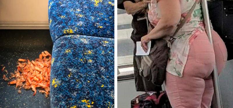 Самые мерзкие пассажиры метро (31фото)