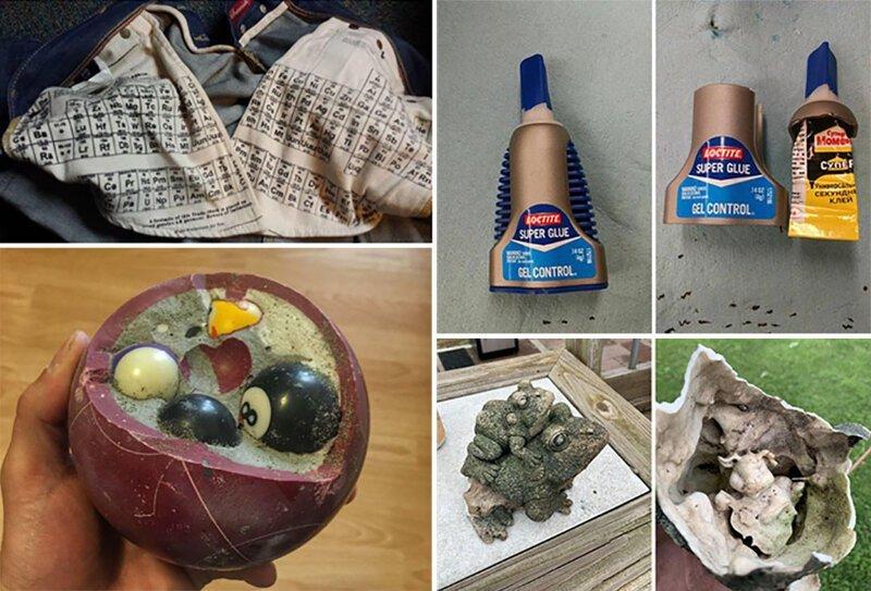 Фотографий увлекательных вещей, найденных внутри других вещей (24фото)