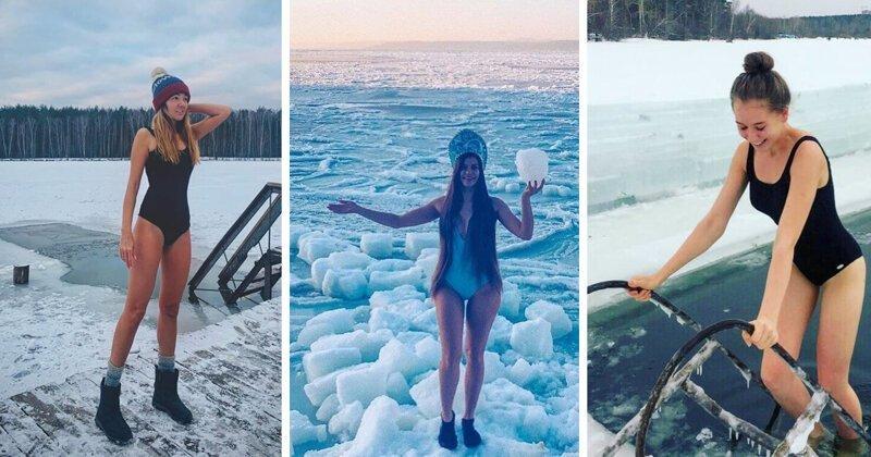Девушки-моржи 2020. Про тех, кто начал этот год с закаливания (16фото)