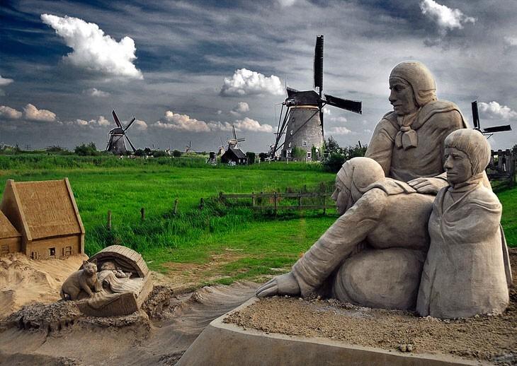 Песчаные скульптуры (26фото)