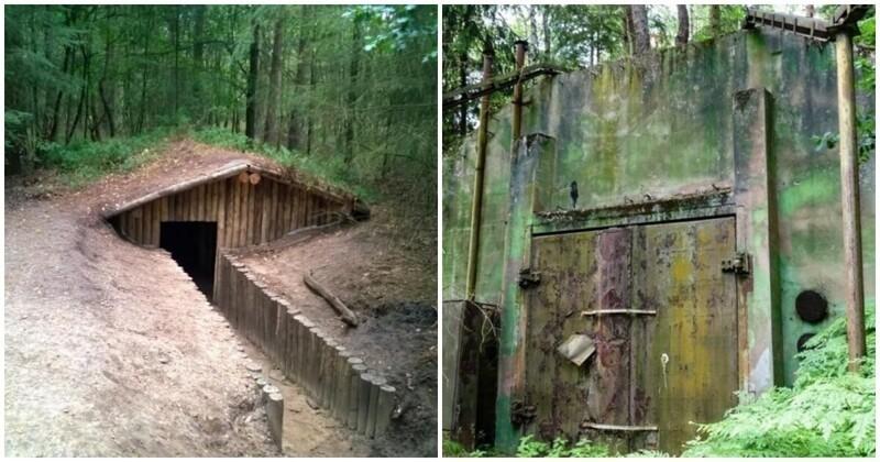 Заброшенные дома и бункеры в лесу (16фото+1видео)