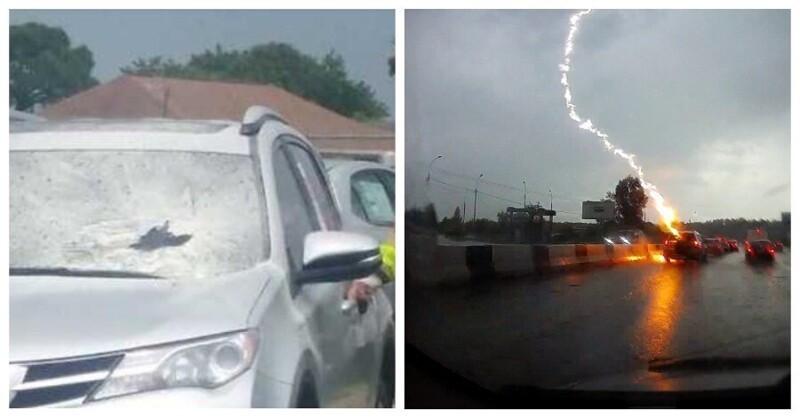 Что будет с машиной, если в нее ударила молния (7фото+6видео)