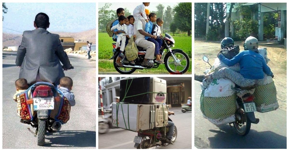 25 доказательств того, что мотоцикл это универсальный помощник (25фото)