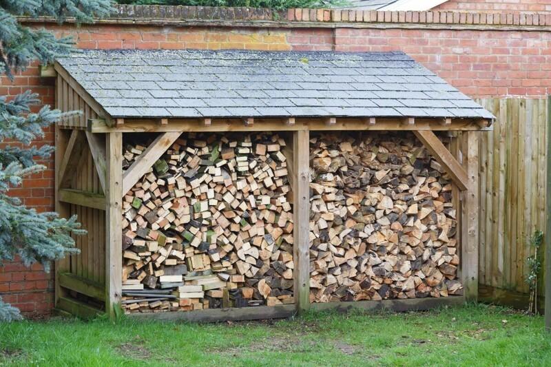 Где и как хранить дрова на даче (19фото)