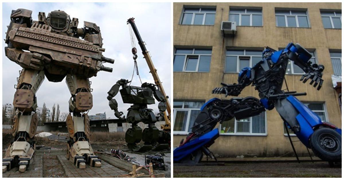 Автомеханики из Донецка собирают огромных роботов из металлолома (21фото)