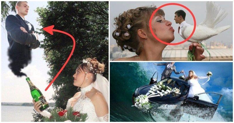 18 убойных примеров свадебного фотошопа, при виде которого становится стыдно и смешно (19фото)
