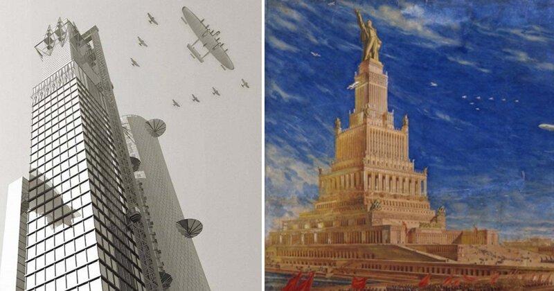 Москва, которой никогда не будет: нереализованные проекты советских архитекторов (6фото)