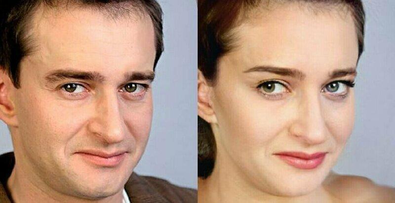 Нейросеть показала, какими будут российские актеры в роли женщин (16фото)