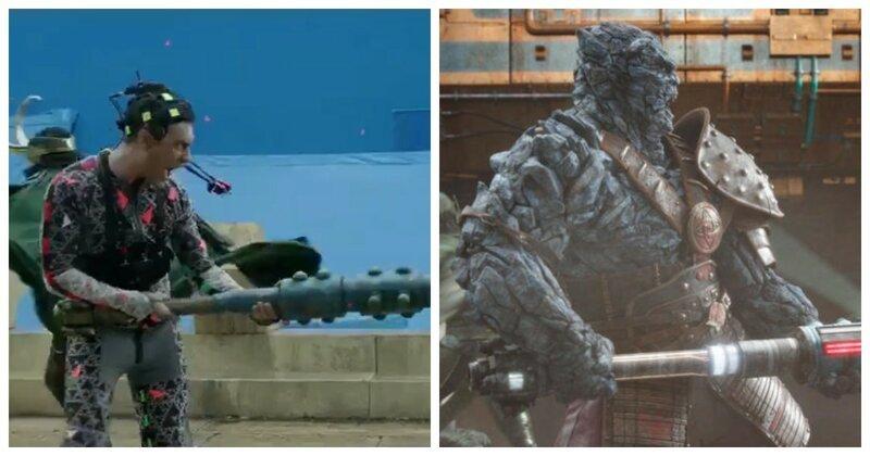 88 сцен из популярных фильмов до и после добавления спецэффектов (88фото)