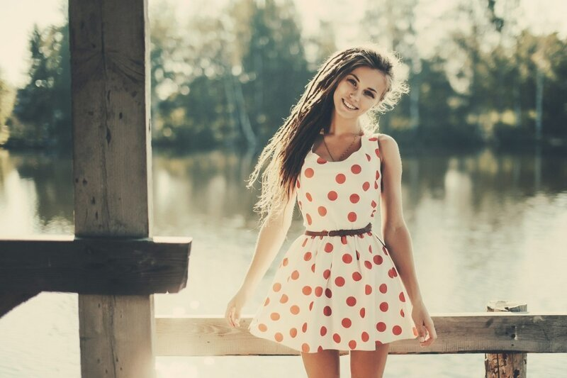 Платье в горошек (15фото)