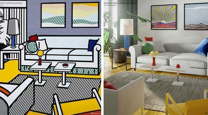 Дизайнеры перенесли интерьеры известных картин в реальный современный мир (13фото)