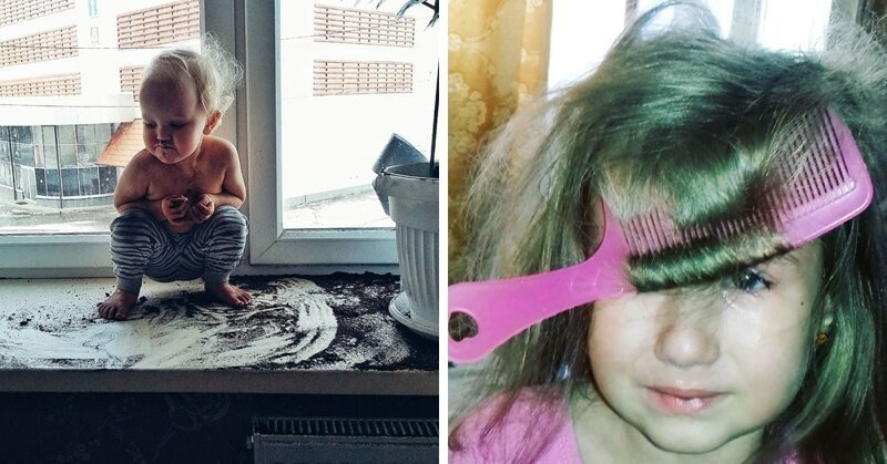 18 фотографий, которые показывают, какова цена за 5 минут тишины в доме, где живёт маленький ребёнок (19фото)