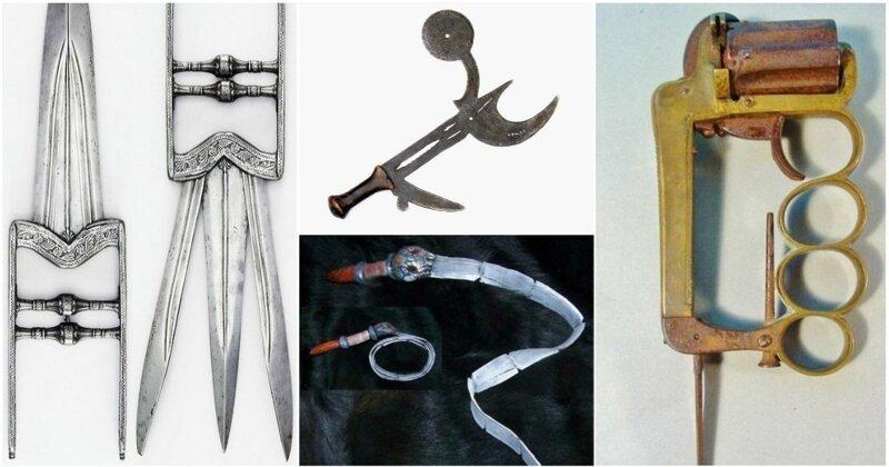 25 примеров страшного старинного оружия, от которого у вас пойдет мороз по коже (34фото)
