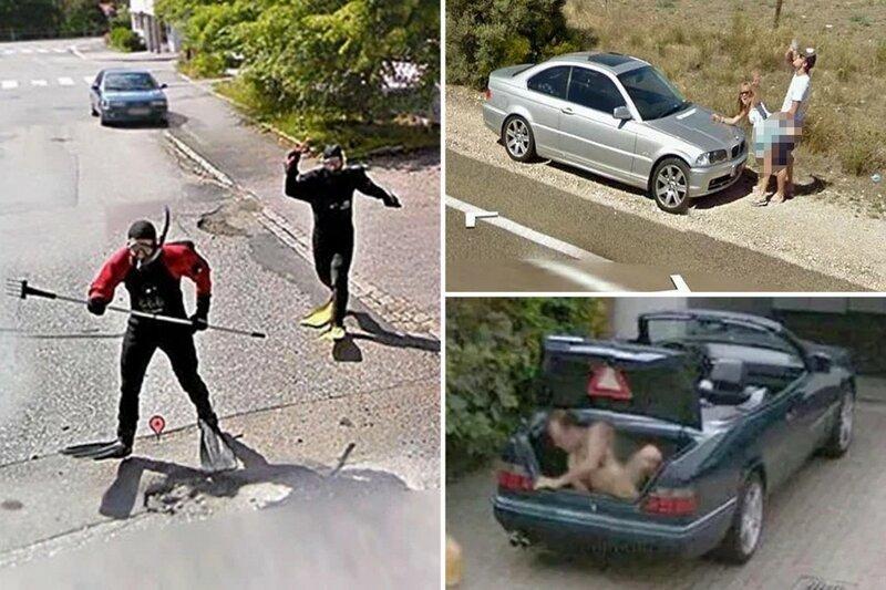 Необычные снимки, сделанные камерами Google Street View (29фото)