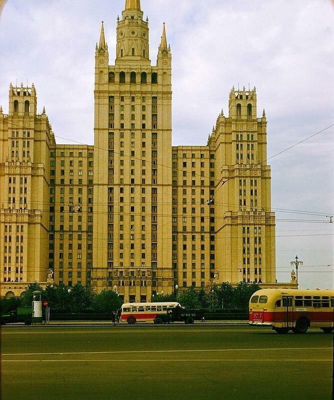 Цветные снимки Москвы 50-х годов (15фото)
