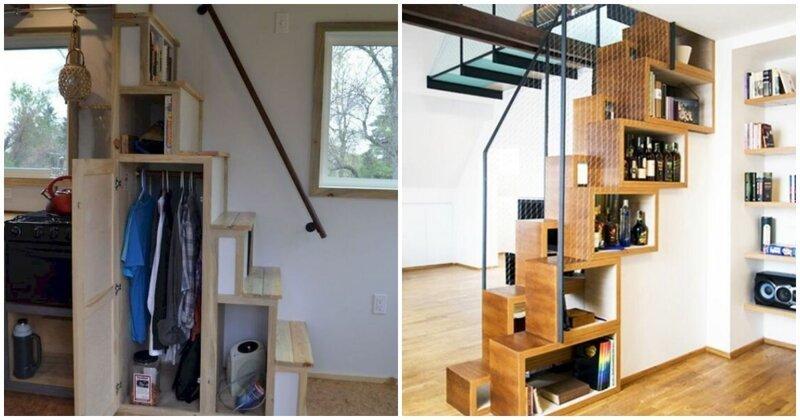 16 классных примеров, как с умом использовать пространство лестницы (17фото)